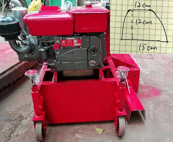 手动调节式拦水带滑膜机-模具尺寸15*12cm
